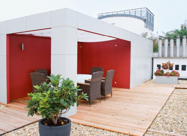 Pavillon Box mit Abstellraum