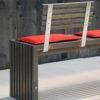 Gartenbank TAVOLA in Vollholz / Robinie mit steckbaren Rückenlehnen