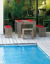 Tavola moderne Design Garten-Sitzgruppe aus massivem Holz