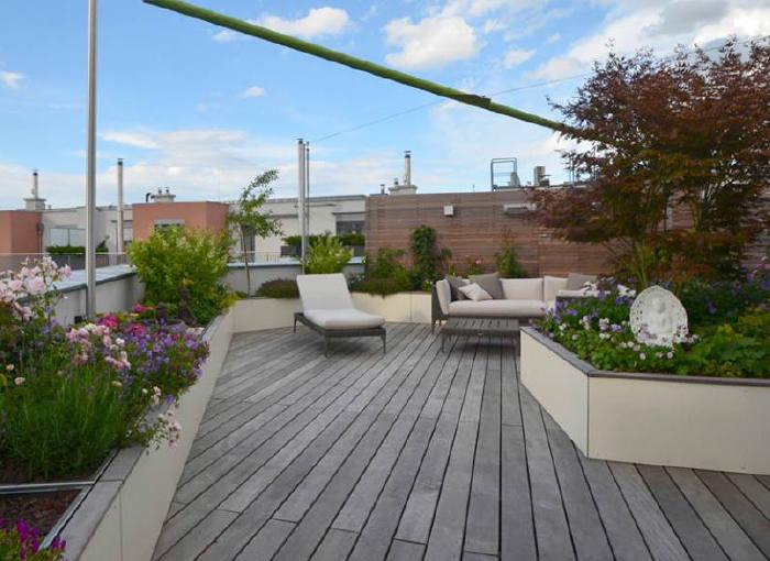 sichtschutz dachterrasse dachterrasse gestalten 37 ideen f r pflanzen und sichtschutz balkon. Black Bedroom Furniture Sets. Home Design Ideas