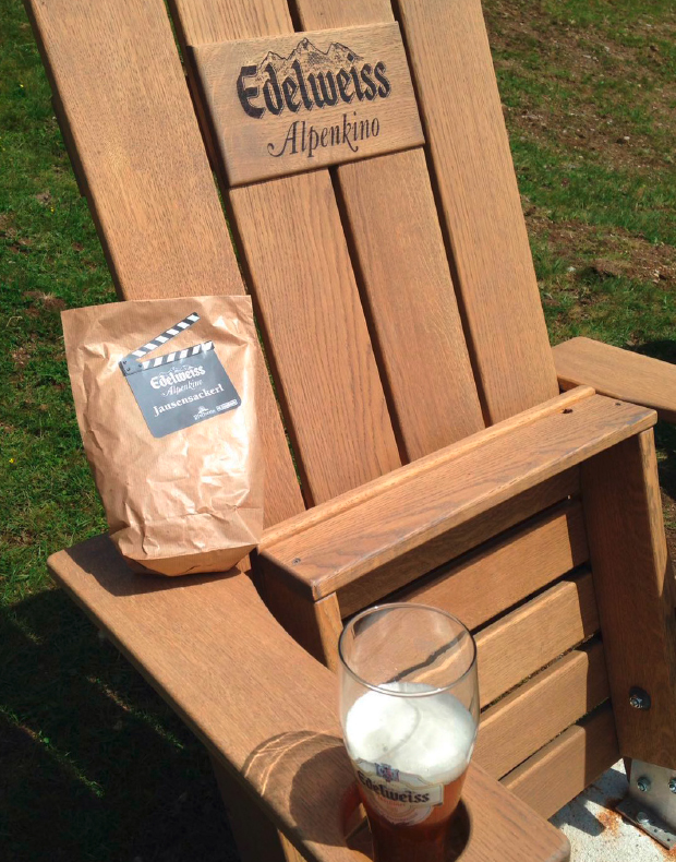 Outdoormöbel-Unikate: Edelweiss Alpenkino-Stühle – Massanfertigung von WALLI Wohnraum Garten