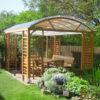 Lauschiger Garten-Pavillon aus Lärche mit Sitzgruppe Atrium aus heimischem Holz