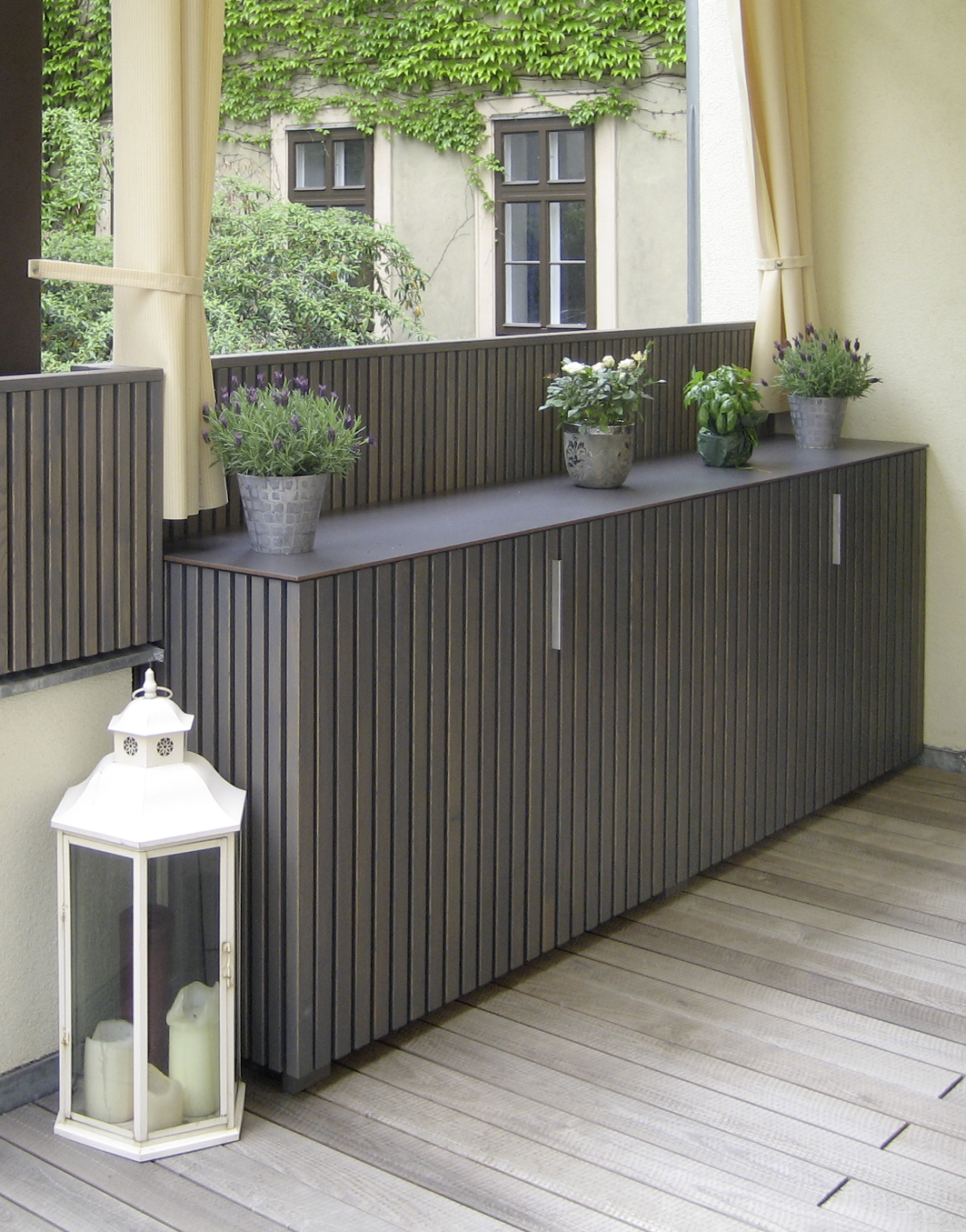 garten sideboard gartentruhen aus holz walli wohnraum garten. Black Bedroom Furniture Sets. Home Design Ideas