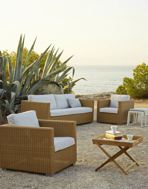 Lounge-Sofa Chester von Cane-line aus Geflecht (Cane-line Weave Faser) bei WALLI Gartenmöbel