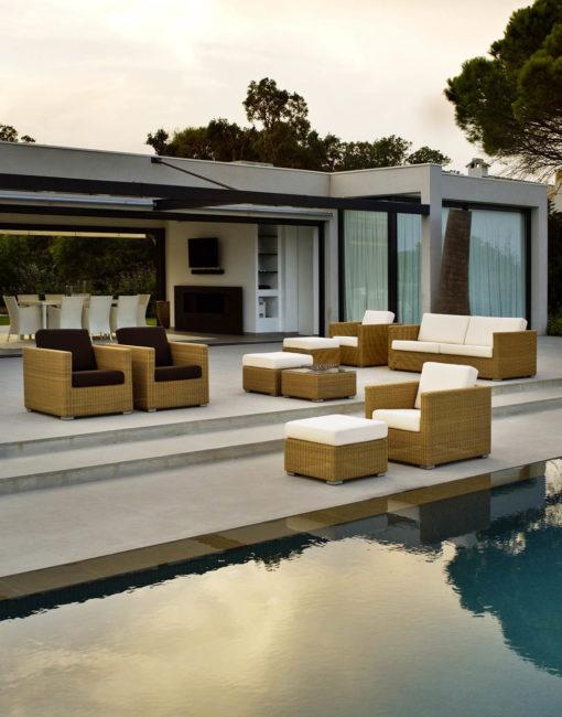 Lounge-Sofa Chester von Cane-line Gartenmöbel aus Geflecht / Cane-line Weave Faser