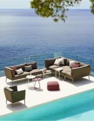 Lounge Sofa Conic von Cane-line aus Textilene bei WALLI Gartenmöbel