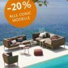 Conic Outdoor Lounge Sofa Sonderangebot   WALLI Ihr Cane-line Premium Händler in NÖ & Wien