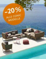 Conic Outdoor Lounge Sofa Sonderangebot | WALLI Ihr Cane-line Premium Händler in NÖ & Wien