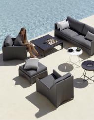 Design Sofagruppe aus Textilene: Lounge-Serie Diamond von Cane-line bei WALLI Gartenmöbel