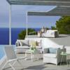 Diamond 2- und 3-Sitzer Sofa, Loungesessel und Lounge-Stuhl Traveller in Weiß von Cane-line