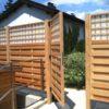 Sichtschutz-Zaun mit individuellem Dichtzaun und Gartentor aus heimischer Lärche