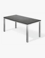 Modulares Tischsystem: Terrassentische und Gartentische aus Edelstahl nach Maß, Tischplatte Keramik, Stein, HPL, Holz |WALLI Gartenmöbel
