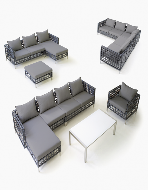 Kombinieren Sie das Modul-Sofa Flow von Cane-line nach Ihren Bedürfnissen