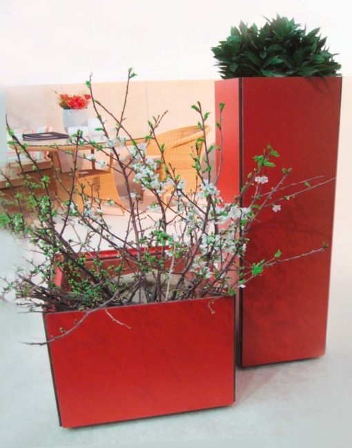 Design Pflanzkübel aus wetterfestem HPL nach Maß –exklusiv vom Gartentischer WALLI