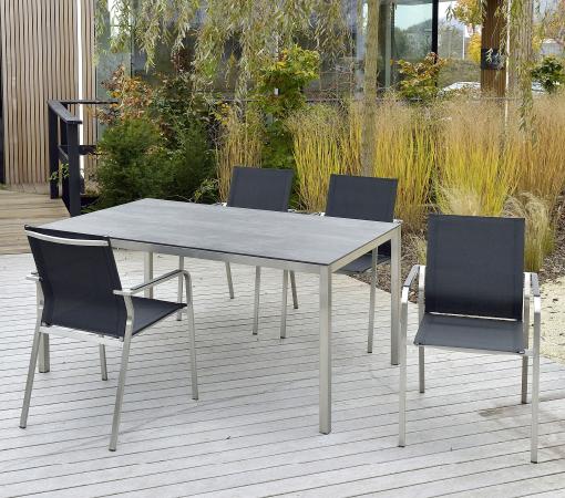 Gartentisch Edelstahl Mit Holzplatte.Hochwertige Edelstahl Gartentische Nach Maß Walli Gartenmöbel