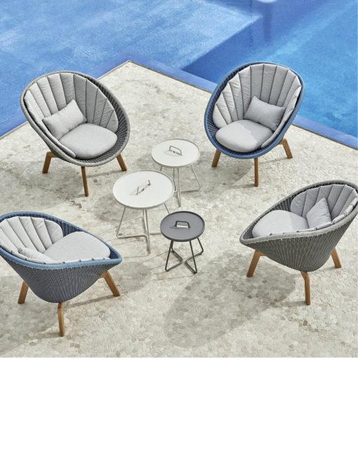 Peacock Lounge Sessel in Cane-line Weave für den Outdoor-Bereich –jetzt bei WALLI Gartenmöbel