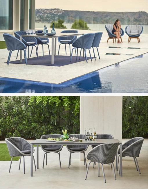 Peacock – moderner Ess-Stuhl für die Terrasse - jetzt bei WALLI Wohnraum Garten