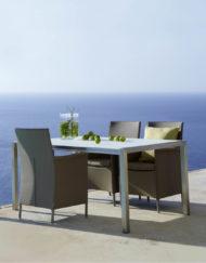 Für ihre Essgruppe im Freien: Eleganter Stuhl Liberty in Textilene bei WALLI Wohnraum Garten