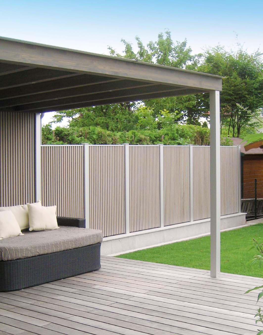 Terrassenuberdachung Modern In Holz Walli Ihr Gartentischler