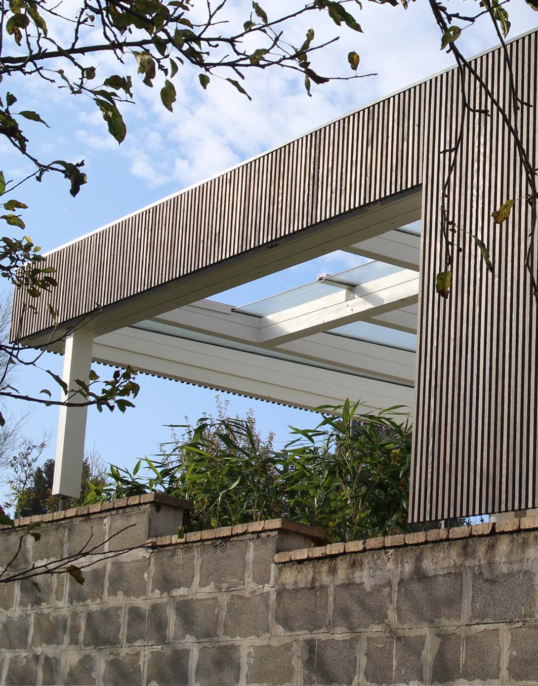terrassen berdachung modern in holz walli ihr. Black Bedroom Furniture Sets. Home Design Ideas