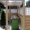 Pergola mit Überdachung und Dichtwand als Sichtschutz / Zaun in Lärche in individueller Ausführung