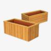 Individuelle Pflanzbehälter aus Holz nach Maß – heimische Lärche, Akazie/Robinie, Eiche, Thermoesche, Thermokiefer