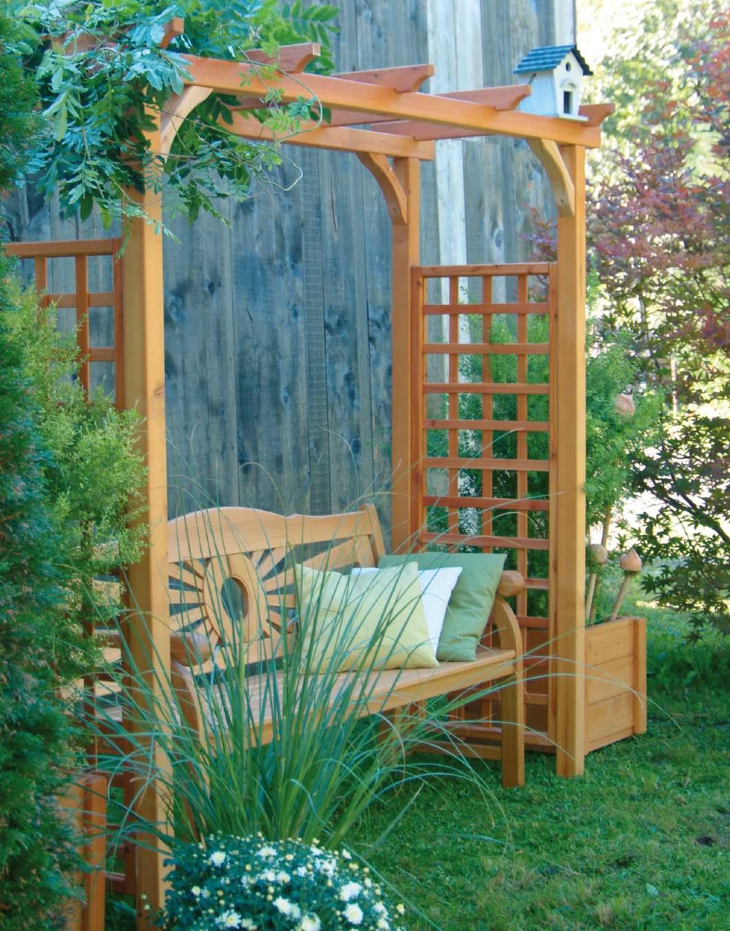Pergola Und Gartenlaube Aus Holz Walli Wohnraum Garten