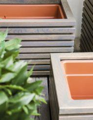 Pflanzkasten / Behälter Tavola mit Einsätzen zum direkten Bepflanzen
