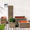 Pflanzkasten Tavola –schickes Design, nachhaltig und ökologisch aus Holz (Akazie / Robinie)
