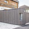 Exklusive Einhausung von Mülltonnen / Mülltonnenhaus nach Maß mit integriertem Brieffach
