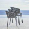 Stapelbarer Outdoor-Stuhl Moments mit Textil-Geflecht von Cane-line bei WALLI