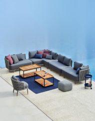 Moments – exklusives Outdoor Modul Sofa von Cane-line bei WALLI Wohnraum Garten