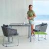Moments Dining Chair – exklusiver Terrassen-Stuhl für die Essgruppe von Cane-line