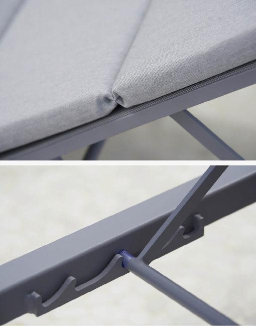 Liege aus leichtem & witterungsbeständigem Aluminium, Auflagen für noch mehr Komfort