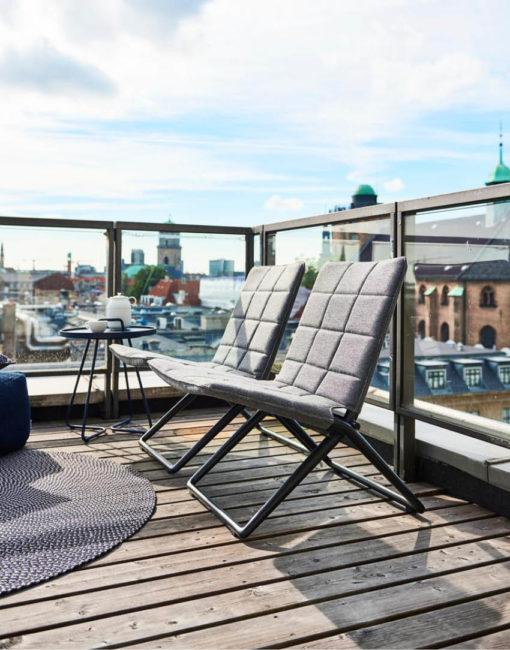 Lounge Stuhl Traveller von Cane-line –ideal für Terrasse und Balkon