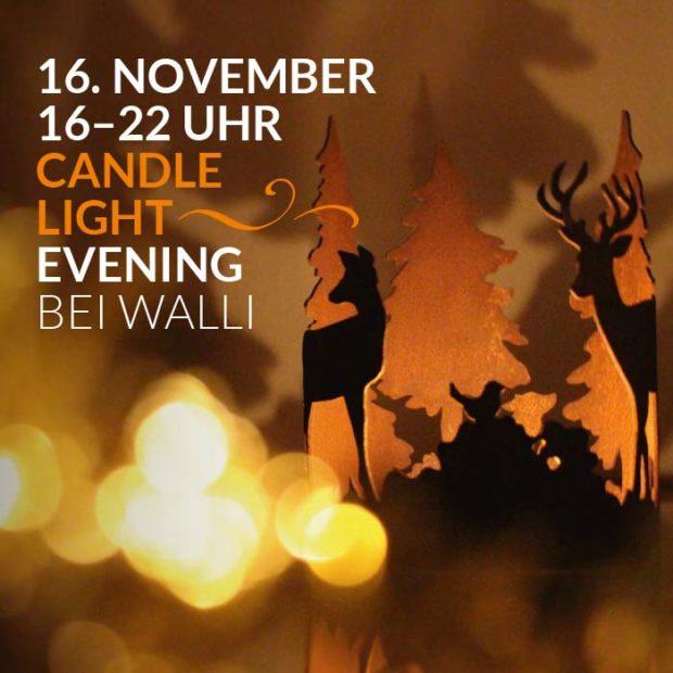 Ausstellungen & Events: Stimmungsvolle Candlelight Evening Ausstellung bei WALLI