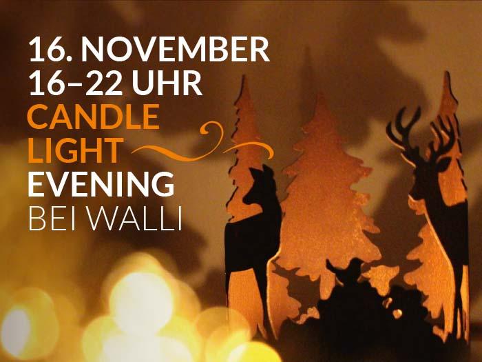 Candlelight Evening | WALLI Wohnraum Garten Schauräume