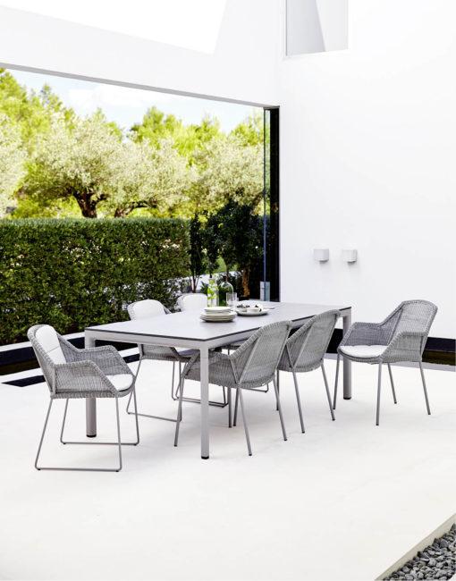 Breeze Dining Chair der wetterfeste Terrassenstuhl von Cane-line bei WALLI