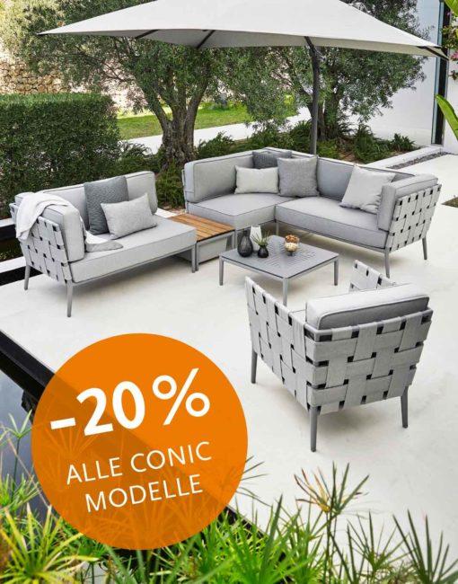 Aktionspreis: Conic Outdoor Sofa - Loungemöbel Serie für Ihr Wohnzimmer im Freien bei WALLI