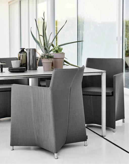 Diamond Dining Chair in Textilene –wunderschöner Essstuhl für die Terrasse von Cane-line