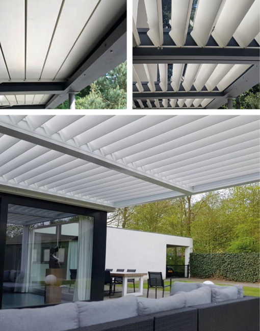 Lamelloline Terrassendach mit kippbaren Lamellen bei WALLI Wohnraum Garten – Ihr Spezialist in Niederösterreich / Wien