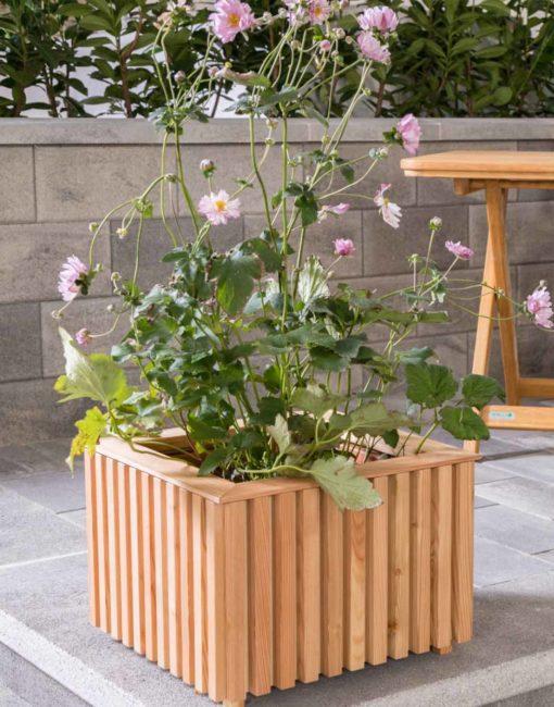 Pflanzkiste aus Lärchenholz im modernen Design für Garten und Terrasse vom Gartentischler