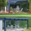 Terrassendach Suroline in Alu-Glas mit Glasschiebetüren –WALLI Wohnraum Garten