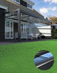 Modernes Terrassendach in Aluminium mit Glas –WALLI Ihr Spezialist für Terrassenüberdachung in Wien, Niederösterreich, Burgenland