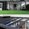 Moderne Terrassenüberdachung Suroline in Alu-Glas, Farbe Anthrazith