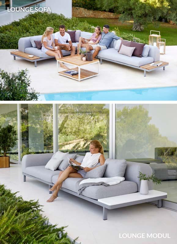 Modul-Sofa Shape für die Terrasse –modernes Outdoor-Lounge-Sofa von Cane-line
