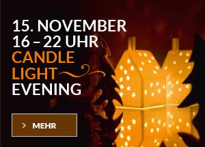 Einladung zum Candlelight Evening bei WALLI Gartenmöbel