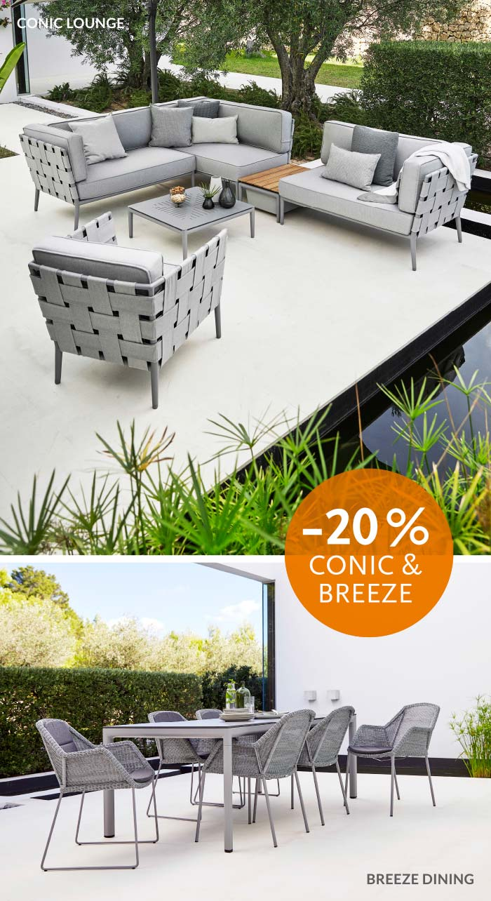 Cane-line Conic & Breeze Gartenmöbelaktion -20% bei WALLI
