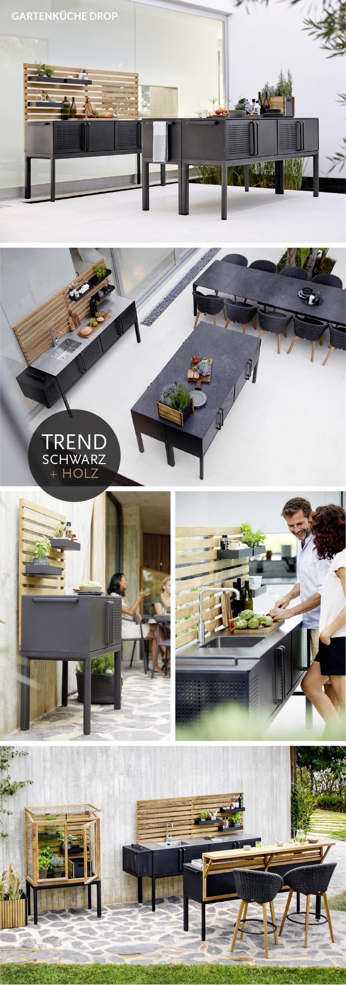 Modern, schlicht, schön –die Design Gartenküche Drop von Cane-line jetzt bei WALLI