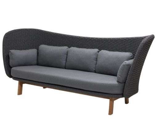 Peacock-Wing 3-Sitzer Sofa Soft Rope